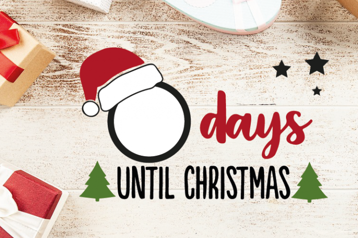 Christmas Countdown, Days until Christmas Svg