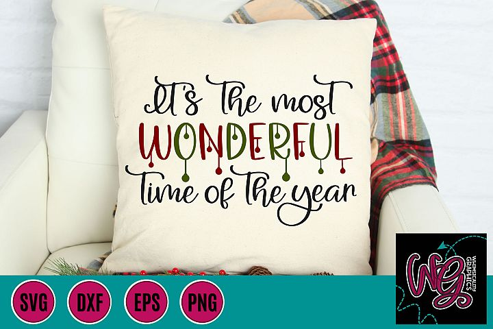The Most Wonderful Time of the Year Christmas SVG, DXF, PNG