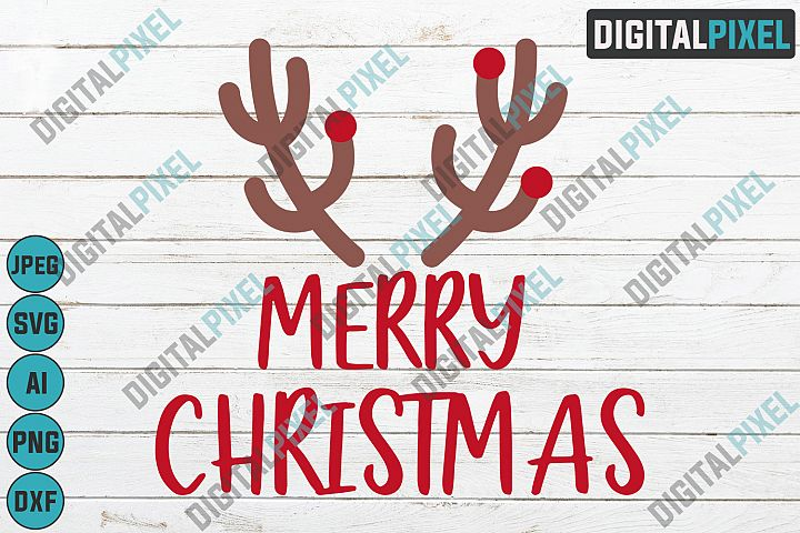 Merry Christmas SVG PNG JPEG AI DXF Circut Cut SVG Files