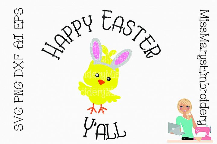 Happy Easter Yall SVG Cutting File