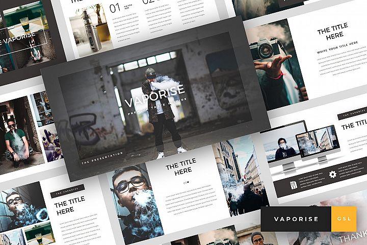 Vaporise - Vape & Vapor Google Slides Template