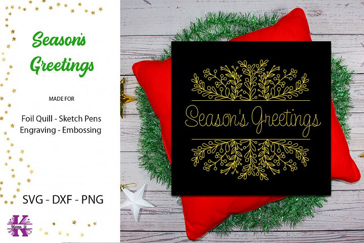 Seasons Greetings Design for Foil Quill|Single line Design