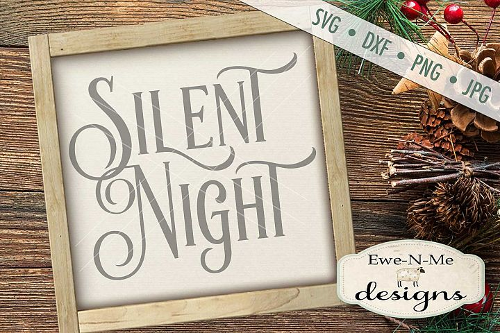 Silent Night SVG DXF Files