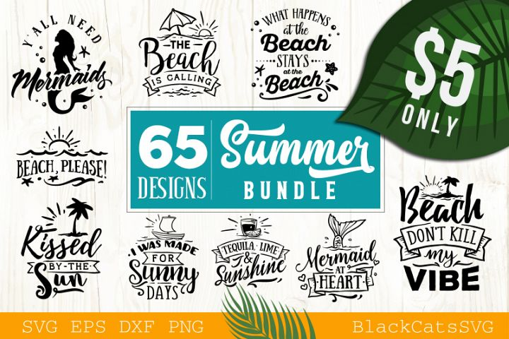 Summer SVG bundle 65 designs Beach SVG bundle