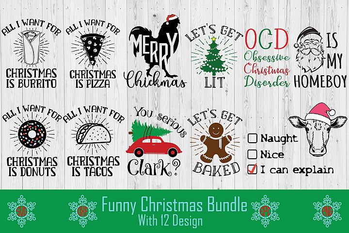 Funny Christmas SVG Cut File Bundle