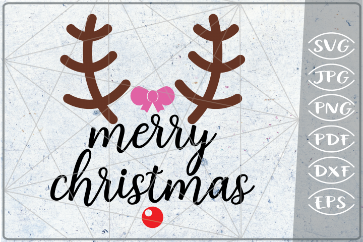 Merry Christmas Deer Quote SVG