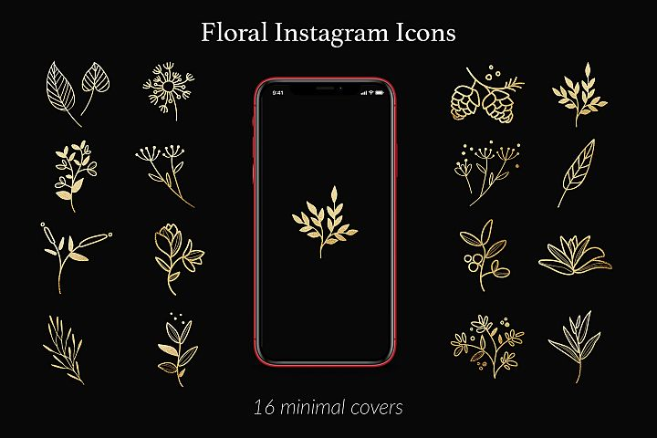 Instagram Icons - Flowers & Branches