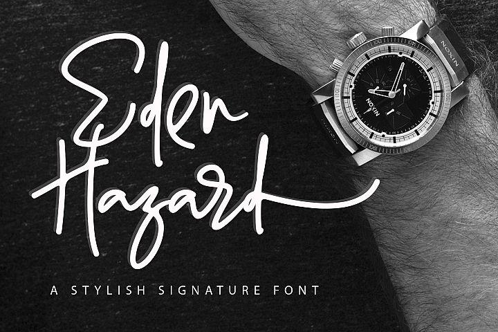 Eden Hazard - A Stylish Signature Font