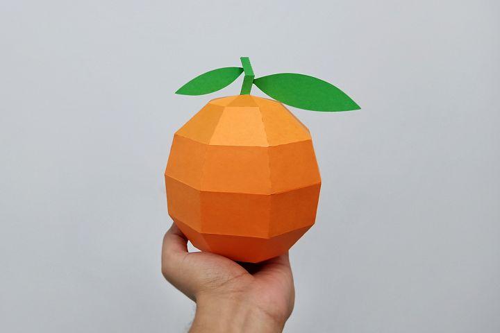 DIY Papercraft Orange,Papercraft fruit,Paper toy,Party decor