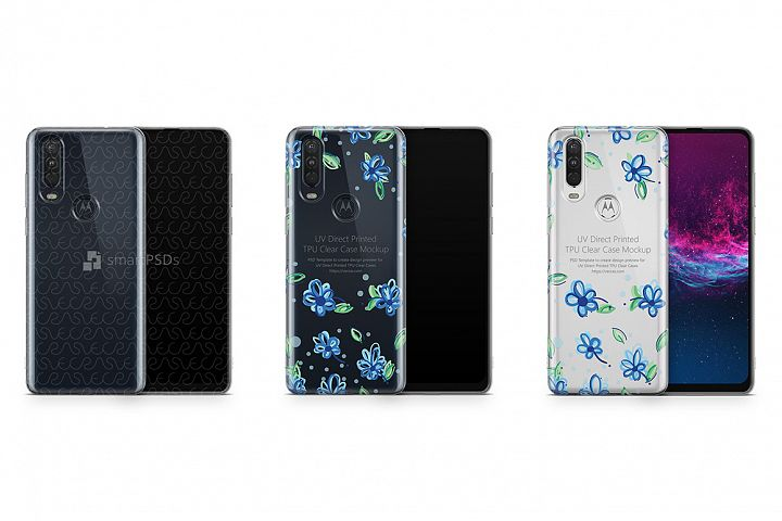 Motorola One Action 2019 TPU Clear Case Mockup