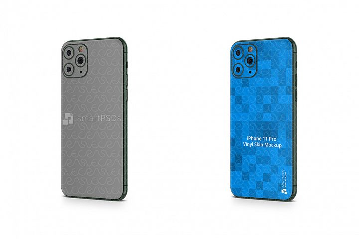 iPhone 11 Pro 2019 PSD Skin Mockup Template Angled