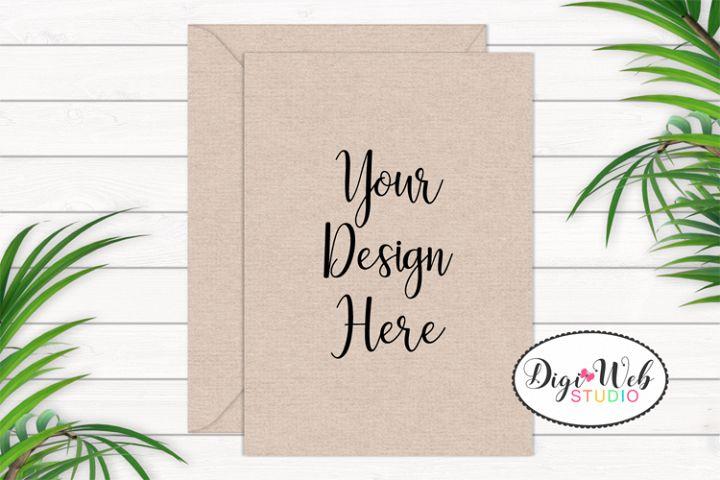 Card / Invitation Mockup - Natural / Minimal w/ Plants