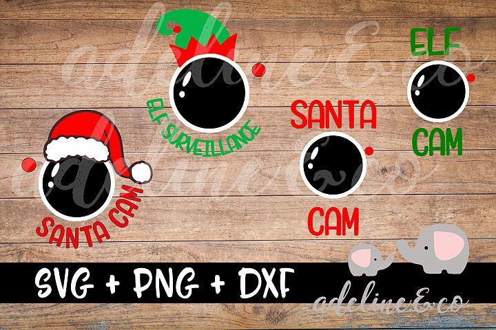 Santa Cam, Elf cam, Bundle SVG PNG DXF