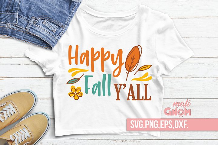 Happy fall yall svg, Fall Vibes svg, Fall svg, Autumn sign,