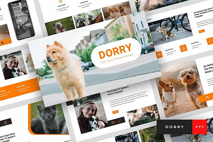 Dorry - Pet Care PowerPoint Template