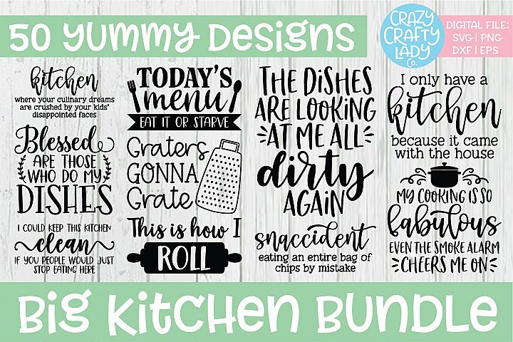 Big Kitchen SVG DXF EPS PNG Cut File Bundle