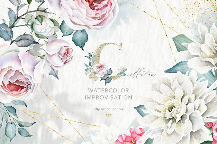 Watercolor Imrovisation & Alphabets