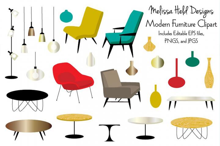 Modern Furniture Clipart