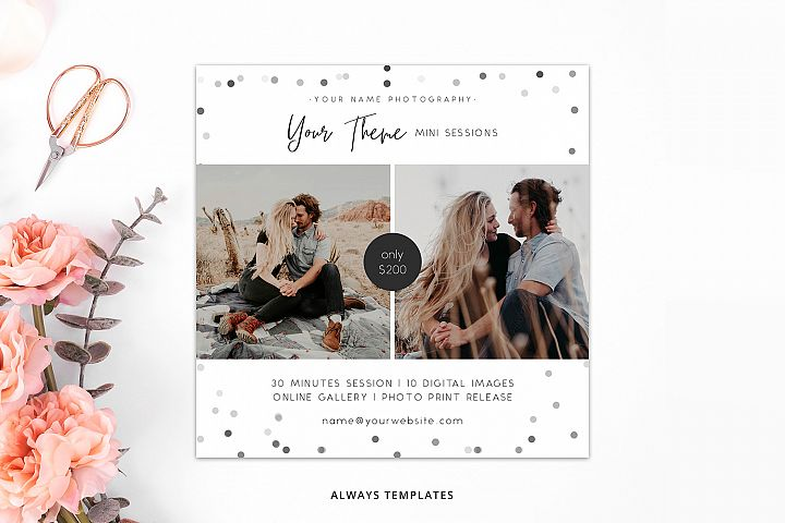 Photography Mini Session Template PM019