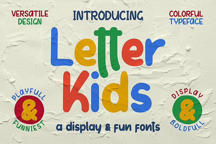 LETTER KIDS Display Fonts