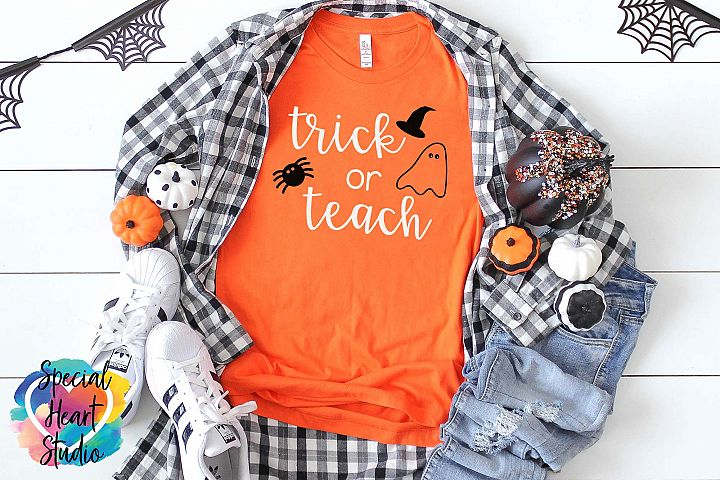 Trick or Teach - A Halloween SVG Cut File for Teachers