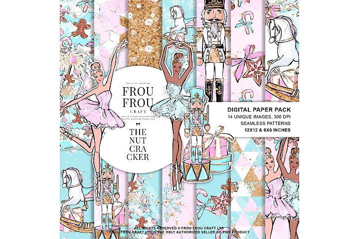 Nutcracker Fairy Tale Nursery Children Ballerina Paper Pack