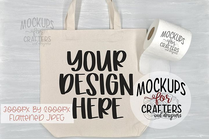 Tote Bag, toilet paper, Mock-Up,