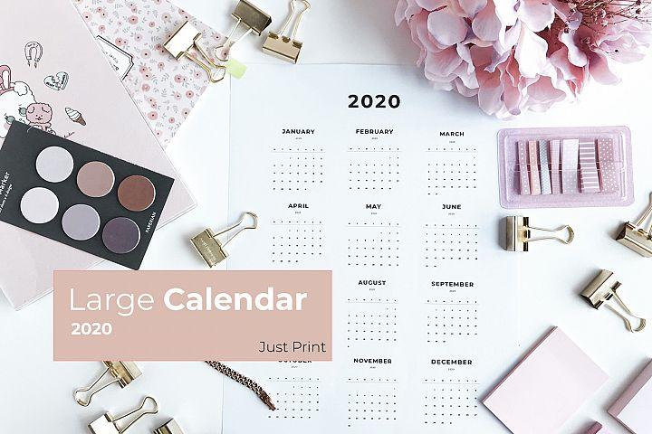 Large Calendar 2020 - Printable
