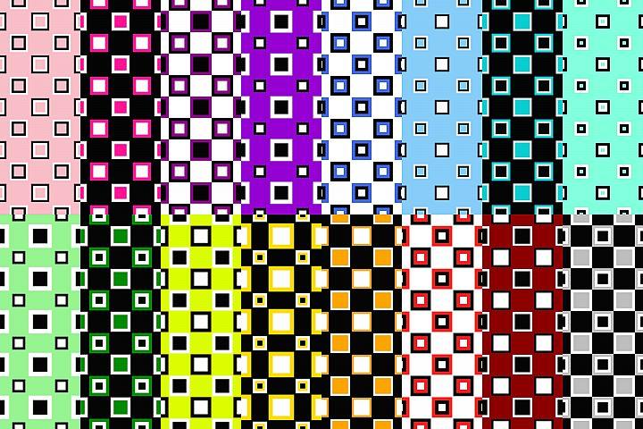 16 Seamless ThreeTone Square Patterns