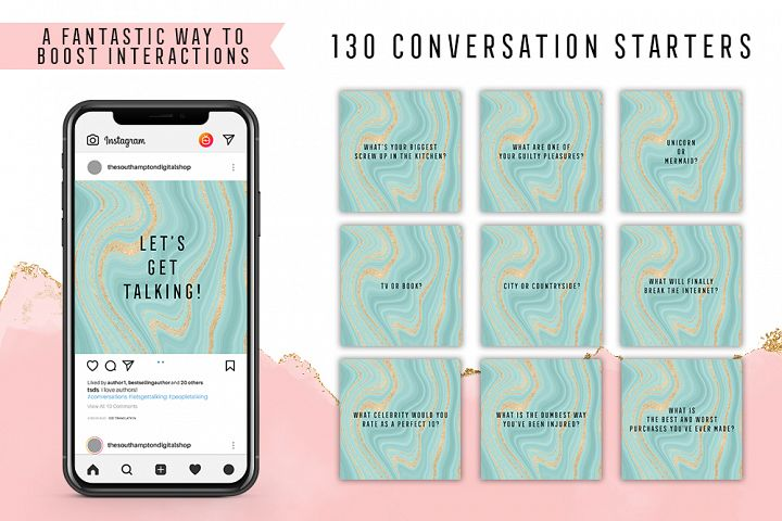 130 Social Media Conversation Starters Version 14