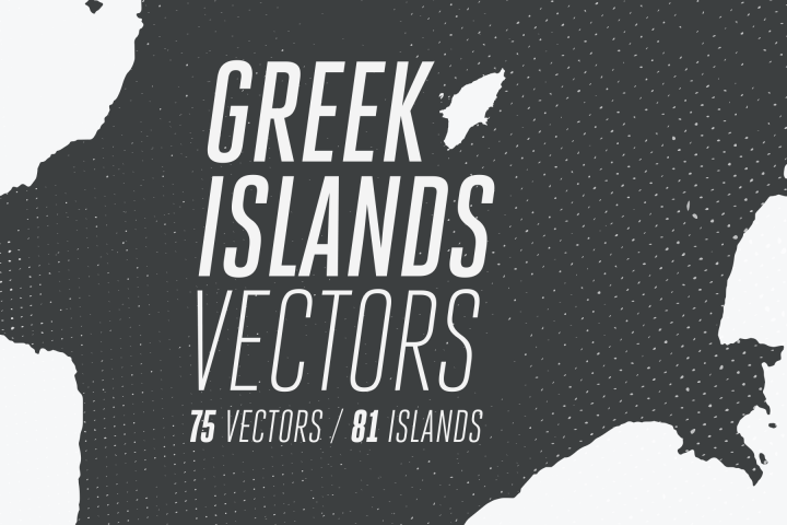 81 Greek Islands Vectors