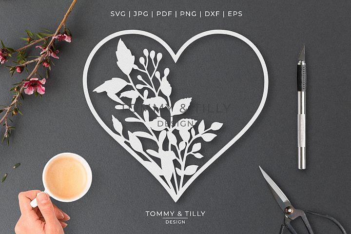 Heart No.23 - Cut File SVG EPS DXF PNG PDF JPG