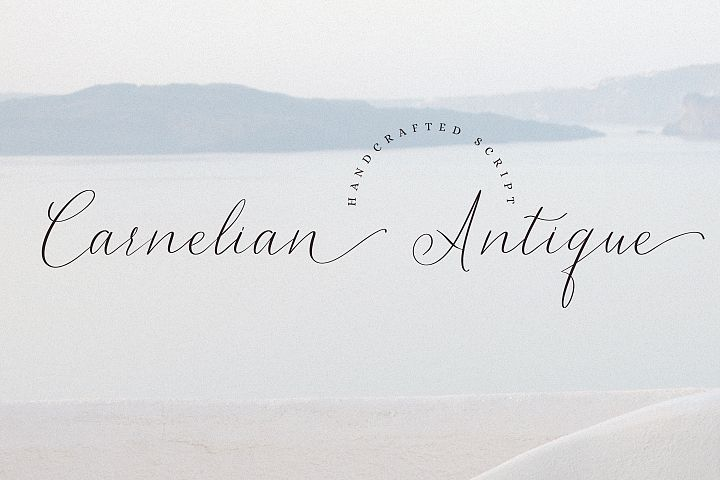 Carnelian Antique - Contemporary style script