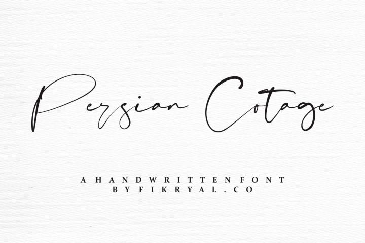 Persian Cotage - Handwritten font