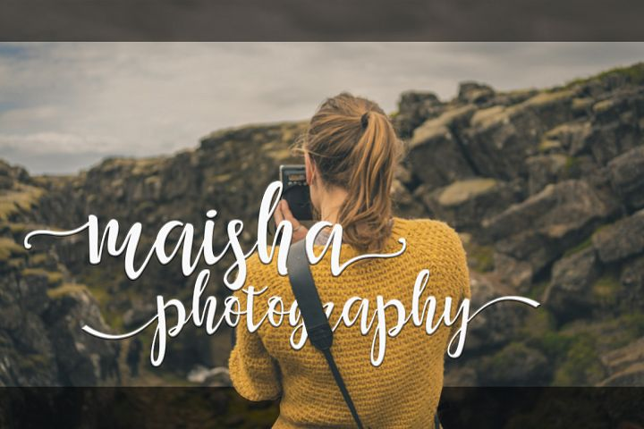 Maisha Script - Free Font of The Week Design2