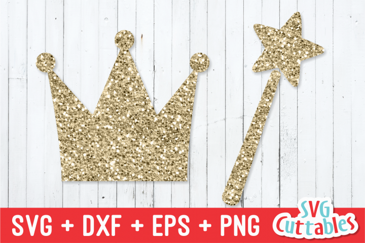Princess Crown and Wand | svg Cut File