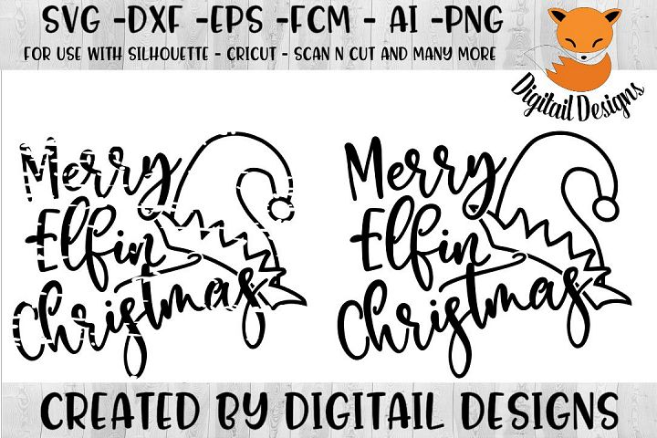 Funny Christmas Elf SVG for Silhouette, Cricut
