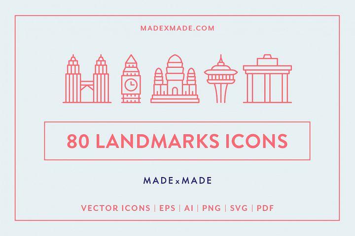 Line Icons - Landmarks