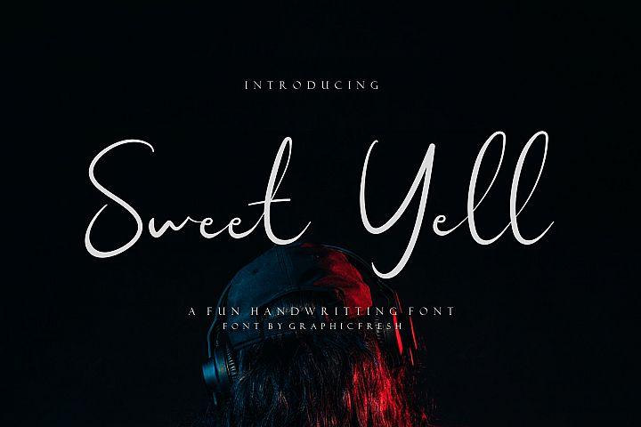 Sweet Yell - A Fun Handwritting