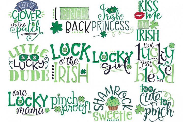 Irish Sayings - 12 Machine Embroidery Designs