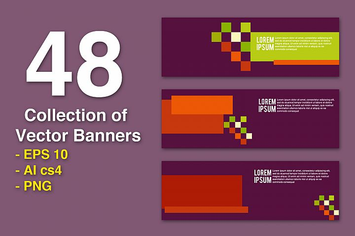 48 Collection of Vector Banners