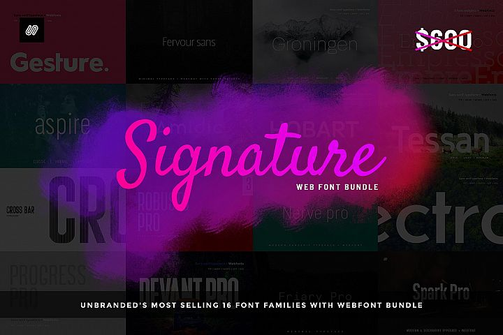 Best Selling 16 Webfonts. - 16 in 1