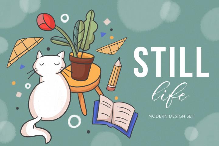Still life - modern design set
