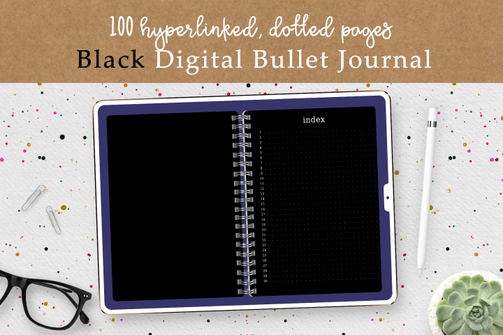 Blac Pages Digital Bullet Journal Planner | Undated