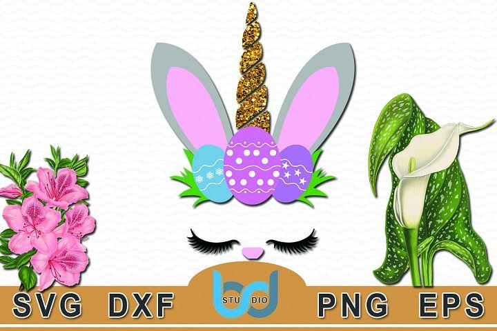 Bunny unicorn svg, Bunnycorn svg, Easter Bunny svg,