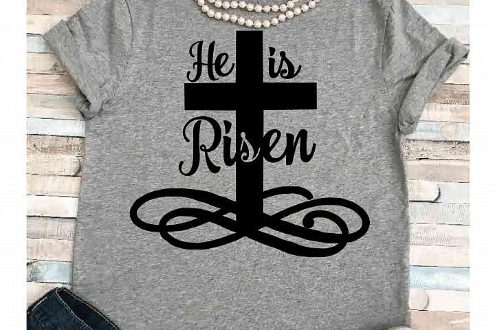 Easter svg SVG DXF JPEG Silhouette Cameo Cricut Jesus svg iron on Faith svg He is risen shirt Cross svg