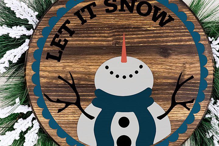 SALE! Let It Snow Snowman Ornament SVG Cut File LL089E example 3