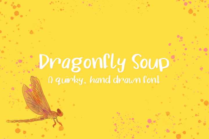 Dragonfly Soup - A quirky hand drawn font