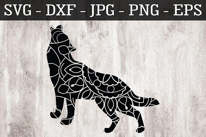 Wolf Mandala SVG EPS PNG Zentangle Wolf SVG
