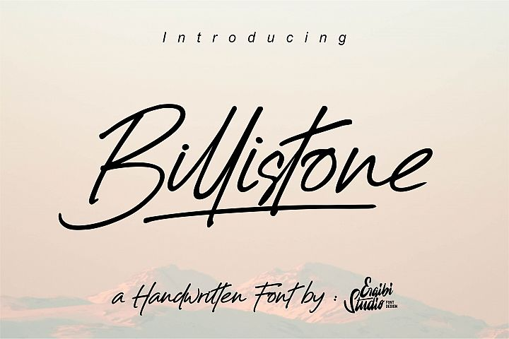 Billistone A Handwritten Font